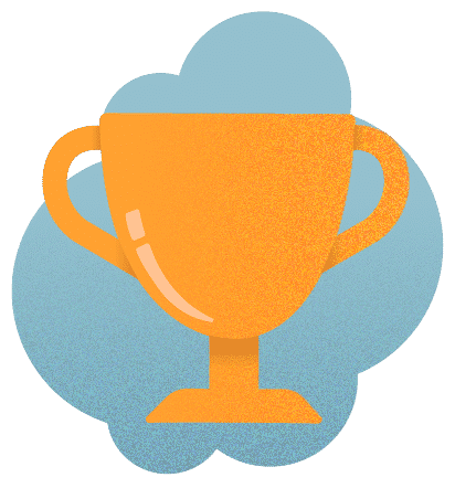 Smirk New Media Trophy Illustration
