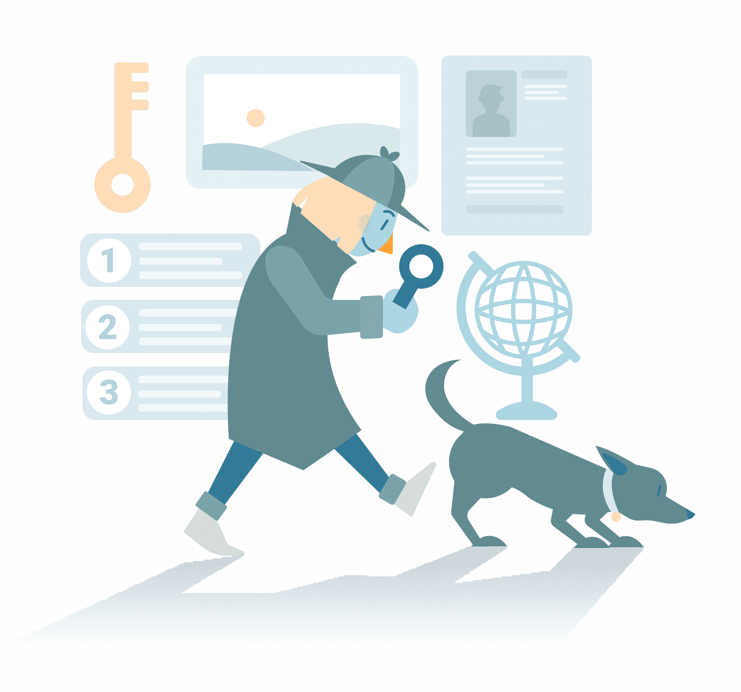 SEO agency services dashboard illustration