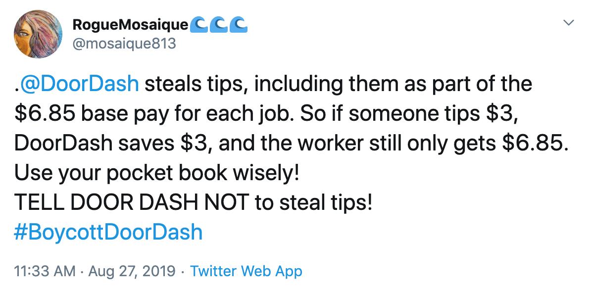 DoorDash Social Media Complaints