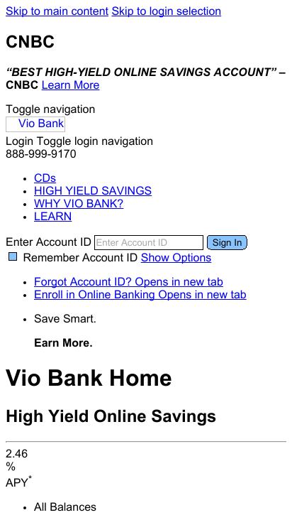 Vio Bank Mobile-Friendly Test March 2019