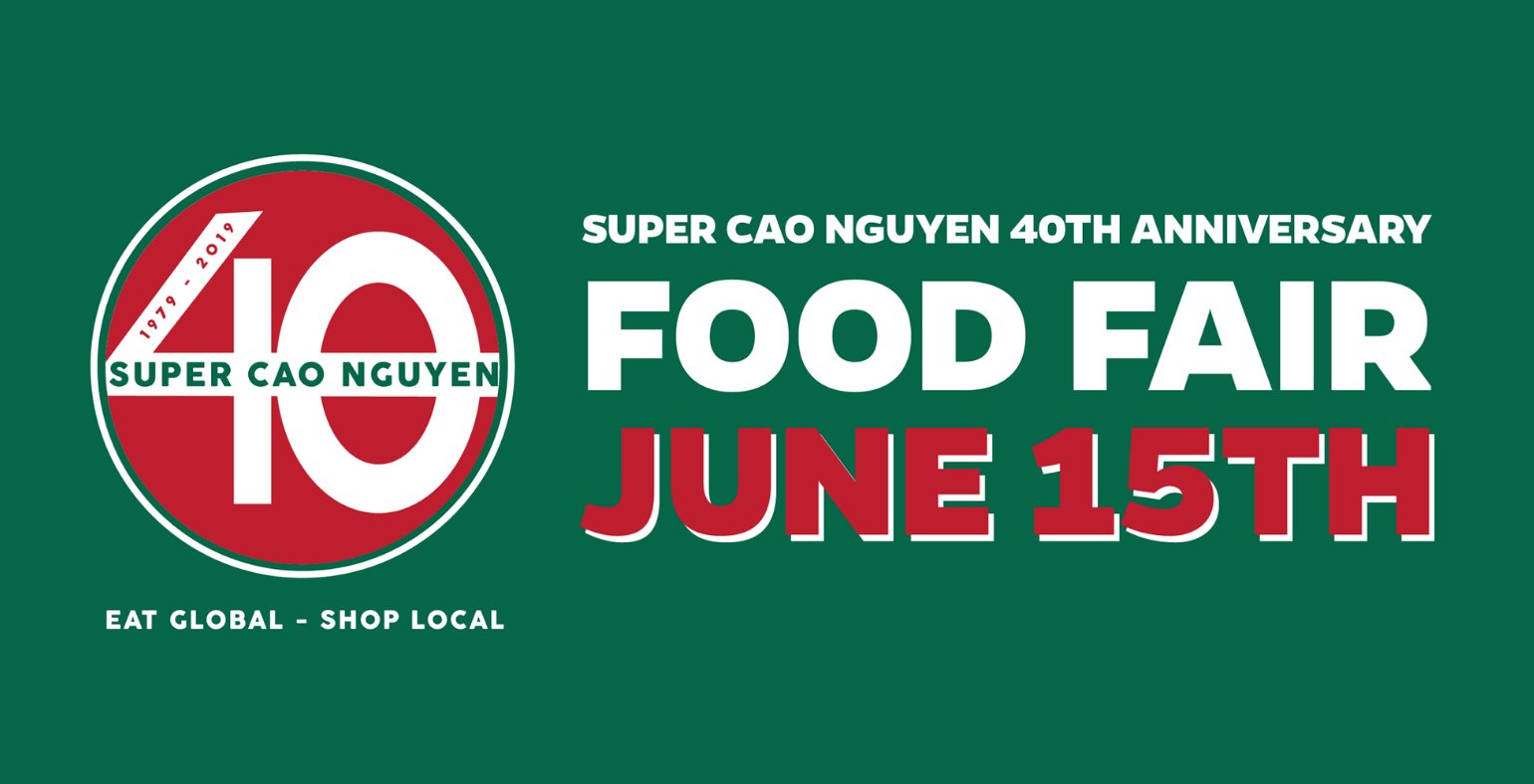 super cao nguyen 40th anniversary food fair flyer