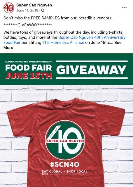 super cao nguyen t-shirt giveaway facebook post