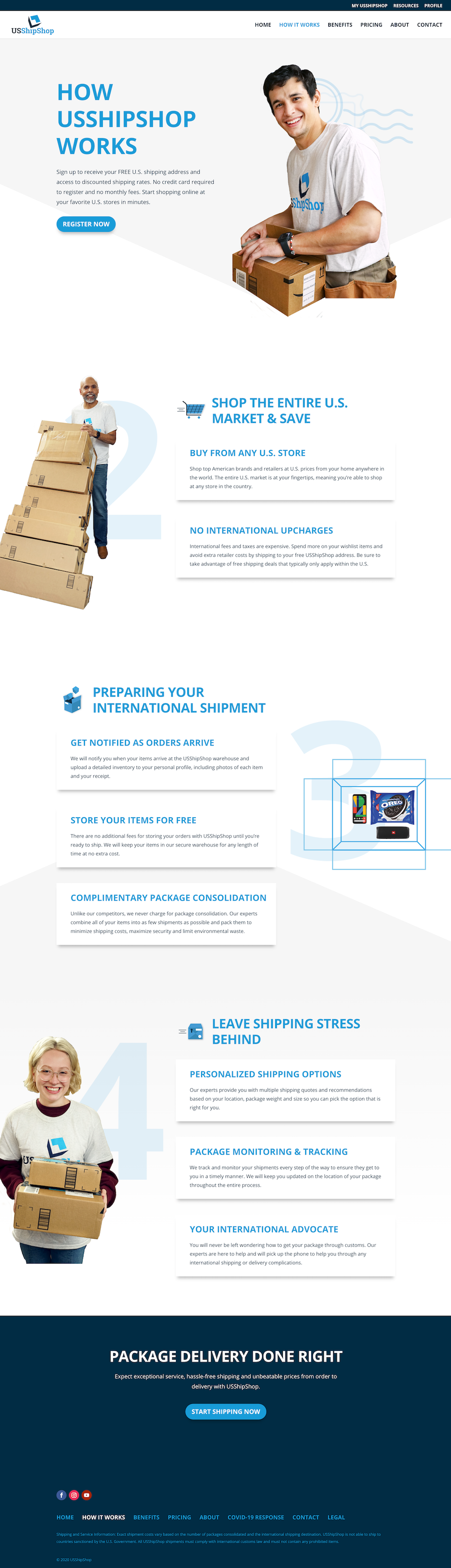 USShipShop How it Works Page
