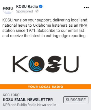KOSU Radio Sample Ad