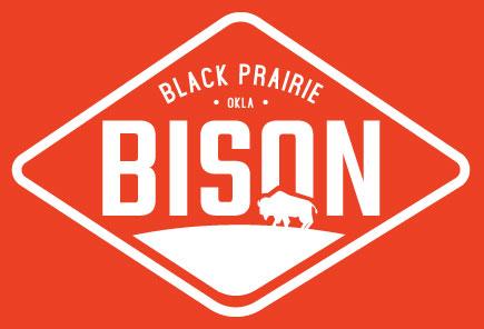 Black Prairie Bison White Logo