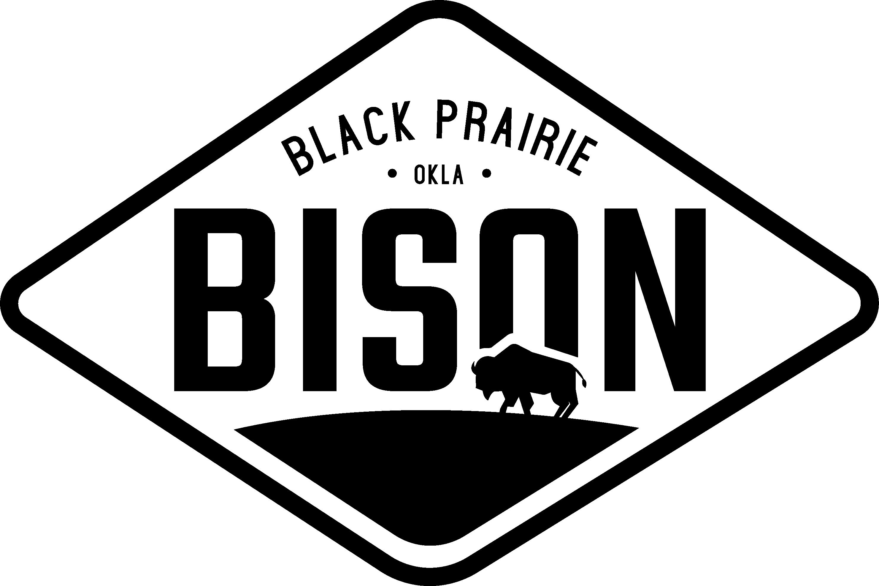 Black Prairie Bison Primary Logo