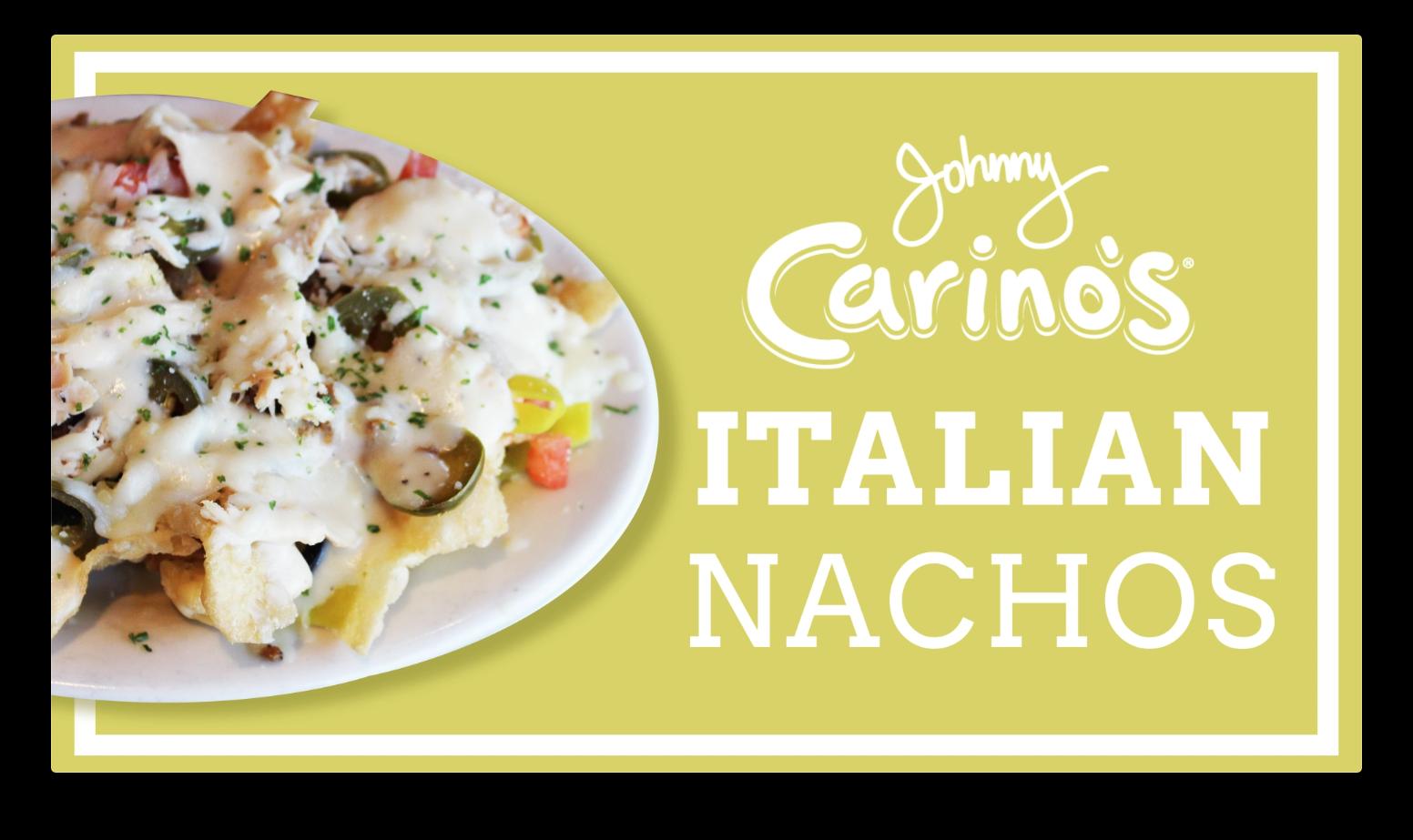 johnny carino's italian nachos motion graphic screenshot