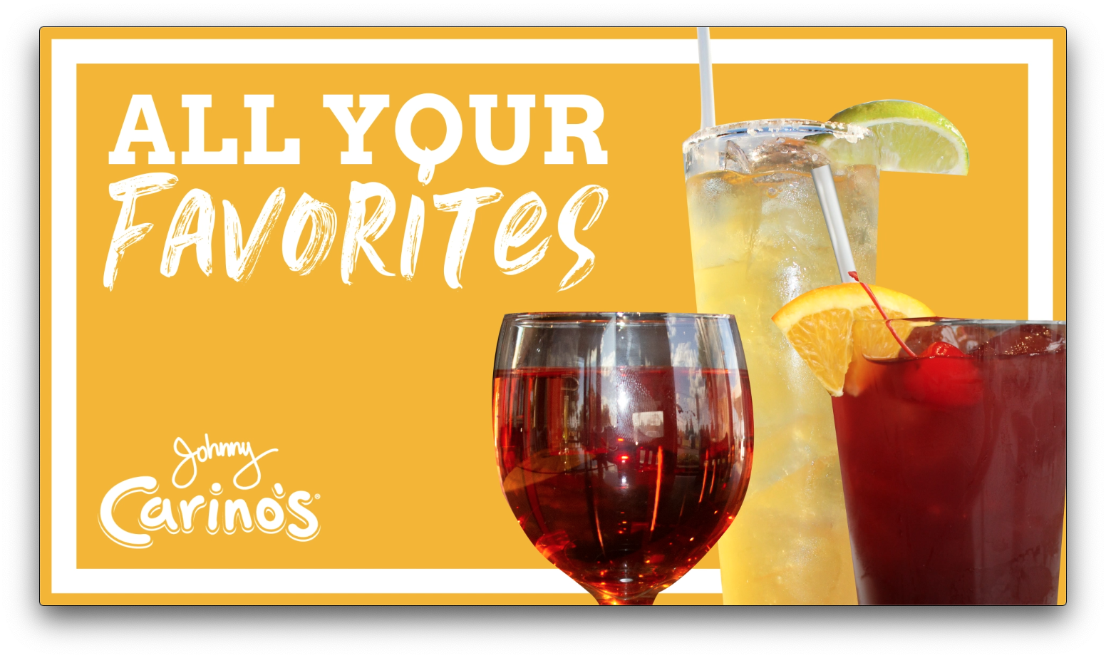 johnny carino's drinks motion graphic screenshot