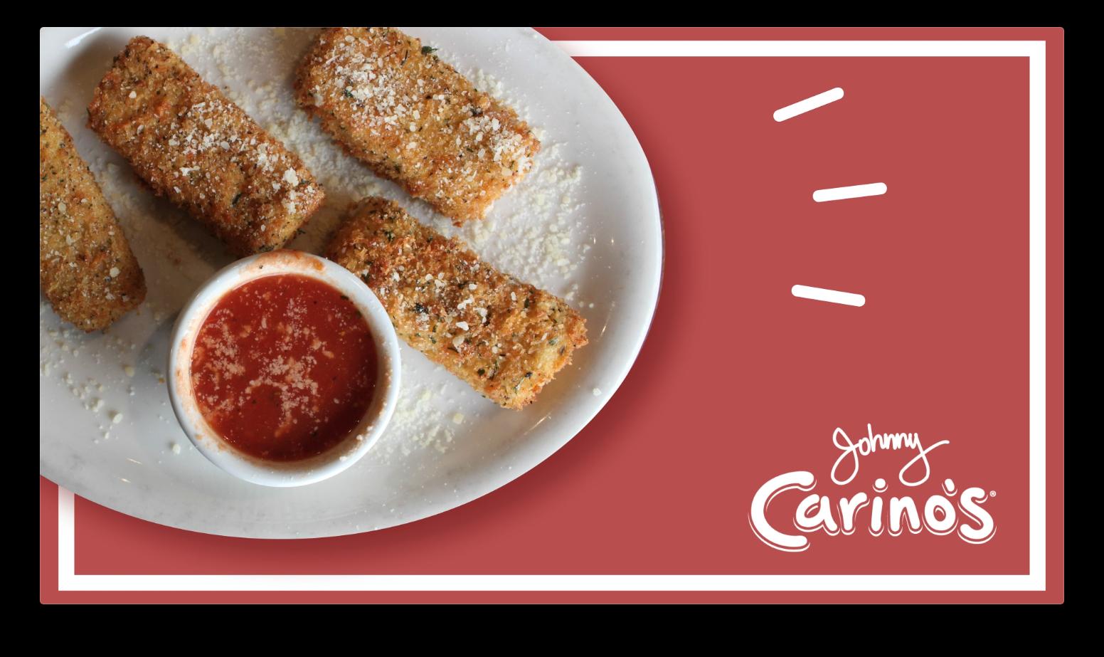 johnny carino's mozzarella sticks motion graphic screenshot