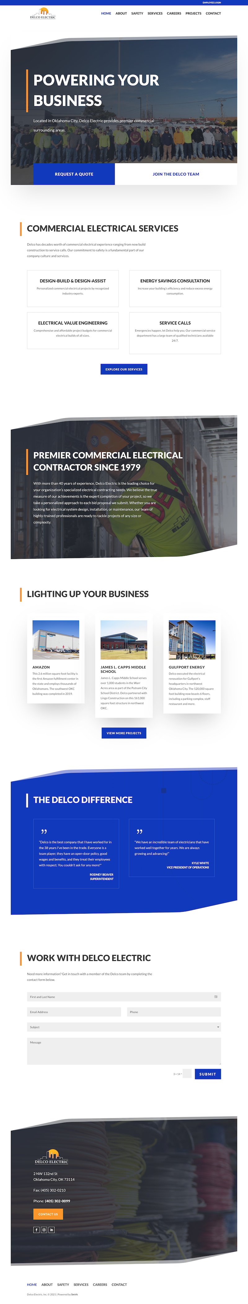 Delco Electric Homepage