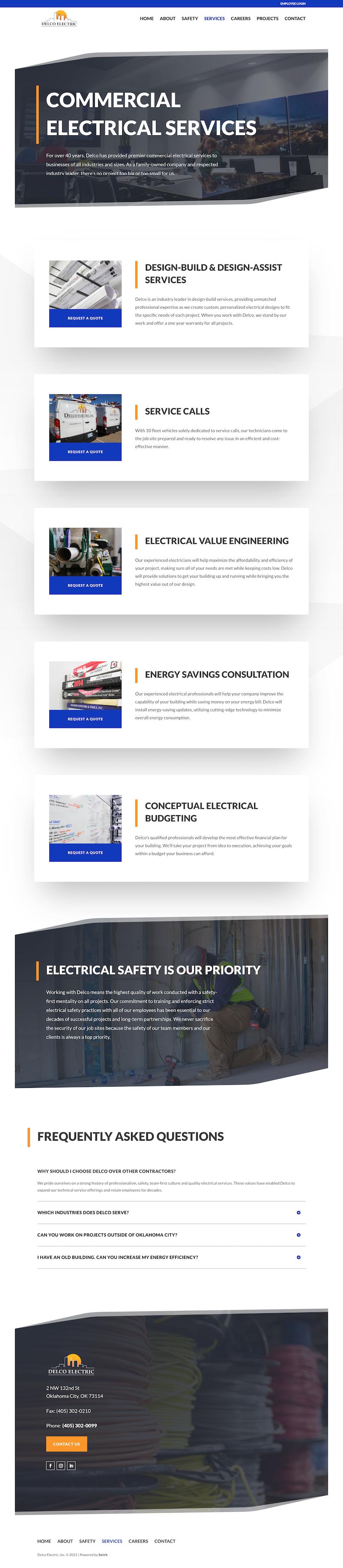 Delco Electric Services Page