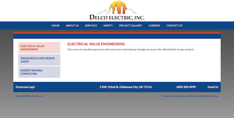 Old Delco Electric Services Page