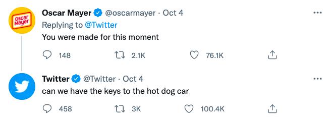 Oscar Mayer's Tweet